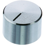 OKW Potentiometer Knob, Grub Screw Type, 32.8mm Knob Diameter, Chrome, 6mm Shaft