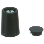 OKW Potentiometer Knob, Collet Type, 10.5mm Knob Diameter, Black, 3mm Shaft