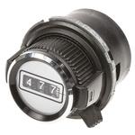 Vishay Potentiometer Knob, Dial Type, 30.6mm Knob Diameter, Black, Splined Shaft Type, 6.35mm Shaft