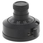 Vishay Potentiometer Knob, Dial Type, 28mm Knob Diameter, Black, 6.35mm Shaft