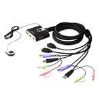 Aten 2 Port USB HDMI KVM Switch - 3.5 mm Stereo
