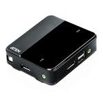 Aten 2 Port USB DisplayPort KVM Switch - 3.5 mm Stereo