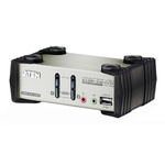 Aten 2 Port PS/2, USB VGA KVM Switch - 3.5 mm Stereo