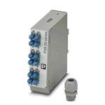 Phoenix Contact 6 Port ST Single Mode Duplex Fibre Optic Patch Panel With 2 Ports Populated