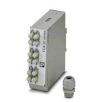 Phoenix Contact 6 Port SC, ST Multimode Duplex Fibre Optic Patch Panel With 2 Ports Populated