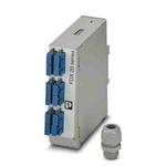 Phoenix Contact 6 Port SC Single Mode Duplex Fibre Optic Patch Panel With 2 Ports Populated