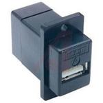 USB A-B PANEL ADAPT BLACK