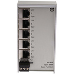HARTING Ethernet Switch, 5 RJ45 port, 48V dc, 10 Mbit/s, 100 Mbit/s, 1000 Mbit/s Transmission Speed, DIN Rail Mount