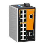 Weidmüller Ethernet Switch, 16 RJ45 port DIN Rail Mount