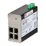 Red Lion Ethernet Switch, 4 RJ45 port DIN Rail Mount