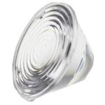 Carclo 10208 LED Lens, 19 ° Medium Angle Ripple, Spot Beam