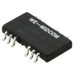 Surface Mount Lan Ethernet Transformer, 12.7 x 8.6mm, 0 → +70 °C