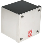 RS PRO 304 Stainless Steel Satin Adaptable Enclosure Box, 0 Knockouts 100mm x 100 mm x 85mm