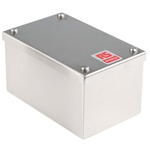 RS PRO 304 Stainless Steel Satin Adaptable Enclosure Box, 0 Knockouts 160mm x 100 mm x 85mm