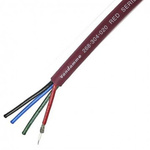 Van Damme 50m Audio Video Combined Cable, 4 Core 75 Ω, Screened, 30 Red 8.9mm OD