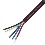Van Damme 50m Audio Video Combined Cable, 5 Core 75 Ω, Screened, 24 Red 9.6mm OD