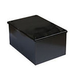 RS PRO Steel Black Enamel Adaptable Box, 10 Knockouts 75mm x 75 mm x 50mm