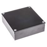 RS PRO Black Enamel Black Enamel Adaptable Box, 6 Knockouts 150mm x 150 mm x 50mm