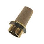 Legris 0675 Brass 12bar Pneumatic Silencer, Threaded, G 1/8 Male
