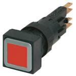 Eaton, RMQ16 Non-illuminated Red Square, 16mm Momentary Push In