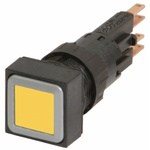 Eaton, RMQ16 Illuminated Yellow Square, 16mm Momentary Push In