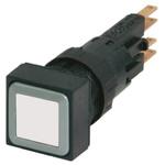 Eaton, RMQ16 Non-illuminated White Square, 16mm Momentary Push In