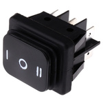 Molveno Double Pole Double Throw (DPDT), On-Off-On Rocker Switch Panel Mount