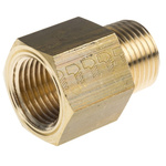 Legris LF3000 250 bar Brass Pneumatic Straight Threaded Adapter, R 1/2 Male To NPT 1/2 Female