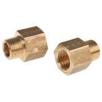 Legris LF3000 250 bar Brass Pneumatic Straight Threaded Adapter, R 3/8 Male To NPT 3/8 Female
