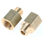 Legris LF3000 250 bar Brass Pneumatic Straight Threaded Adapter, R 1/8 Male To NPT 1/8 Female