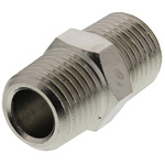 Legris LF3000 20 bar Brass Pneumatic Straight Threaded Adapter, R 1/4 Male To R 1/4 Male
