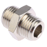 Legris LF3000 60 bar Brass Pneumatic Straight Threaded Adapter, G 1/4 Male To G 1/4 Male