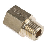 Legris LF3000 250 bar Brass Pneumatic Straight Threaded Adapter, NPT 1/4 Male To G 1/4 Female