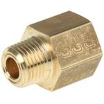 Legris LF3000 250 bar Brass Pneumatic Straight Threaded Adapter, NPT 1/8 Male To G 1/8 Female