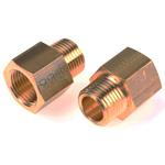 Legris LF3000 250 bar Brass Pneumatic Straight Threaded Adapter, NPT 1/2 Male To G 1/2 Female