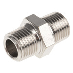 Legris LF3000 20 bar Brass Pneumatic Straight Threaded Adapter, R 1/8 Male To R 1/8 Male