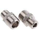 Legris LF3000 20 bar Brass Pneumatic Straight Threaded Adapter, R 1/4 Male To R 3/8 Male