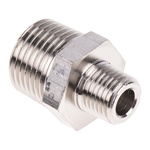 Legris LF3000 20 bar Brass Pneumatic Straight Threaded Adapter, R 1/4 Male To R 1/2 Male
