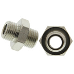 Legris LF3000 60 bar Brass Pneumatic Straight Threaded Adapter, G 1/8 Male To G 1/8 Male
