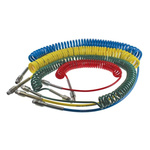 Legris 4m Red Coil Tubing with Connector, PUR, R 1/4