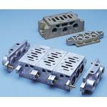 Asco G 1/4, G 1/8 Sub Base, Cast Aluminium 1/4 in, 1/8 in G