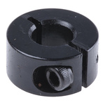 Huco Collar One Piece Clamp Screw, Bore 8mm, OD 18mm, W 9mm, Steel