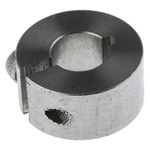 Huco Collar One Piece Clamp Screw, Bore 8mm, OD 18mm, W 9mm, Stainless Steel