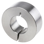 Huco Collar One Piece Clamp Screw, Bore 20mm, OD 40mm, W 15mm, Stainless Steel