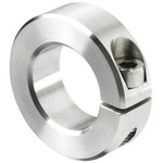 Huco Collar One Piece Clamp Screw, Bore 15mm, OD 34mm, W 13mm, Stainless Steel