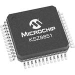 Microchip KSZ8851-16MLLI, Ethernet Controller, 100Mbps 100BaseTX, 10BaseT, BIU, 3.3 V, 48-Pin LQFP