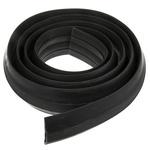 Vulcascot Cable Cover, 23 x 13 + sidemm (Inside dia.), 27 (Top) mm, 83 (Bottom) mm x 3m, Black