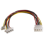 Roline Connector Cable Assembly, Female 4-Pin Molex to Male 4-Pin Molex 4-Pin Molex Male to Female 300mm 4-Pin Molex