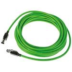 HARTING Green PVC Cat5 Cable U/FTP, 10m Male RJ45/Male RJ45
