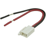 TE Connectivity Connector Cable Assembly 6 A Black/Red